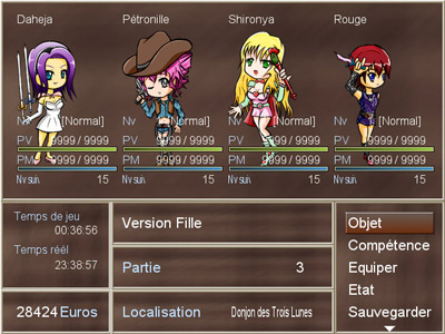 Screenshot de Version Fille (2009)
