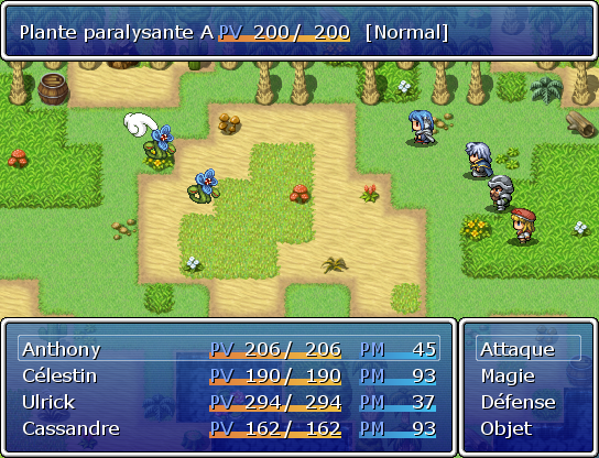 Interface de combat